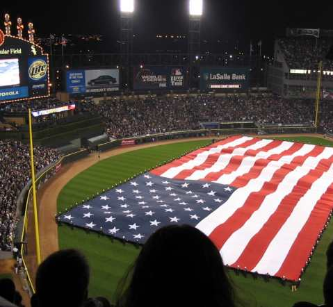 Mike snapped this picture during the 2005 World Series. Let's go, let's go WhiteSox!