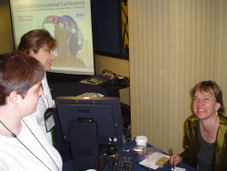 That's Alexis Reed (foreground, left) chatting with me at the AER conference.