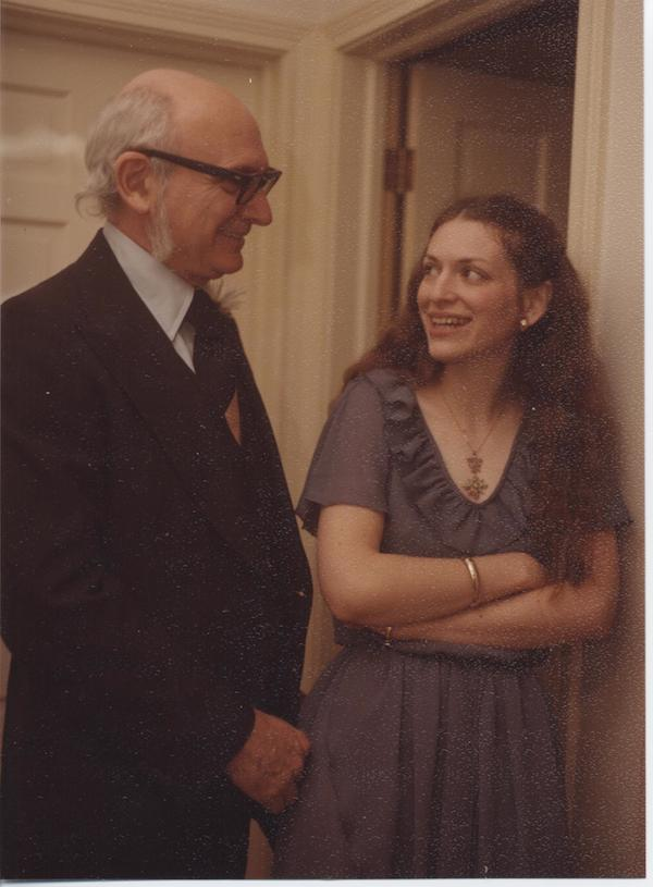 That's Nancy and her father, awhile back.