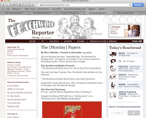 Check out Beachwood Reporter, you'll be glad you did.