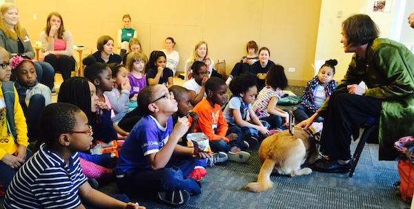 I made it through the reading--with help from all these kids.