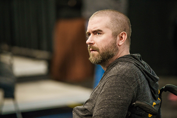 Michael Thornton in rehearsal for Richard III. Photo: Steppenwolf