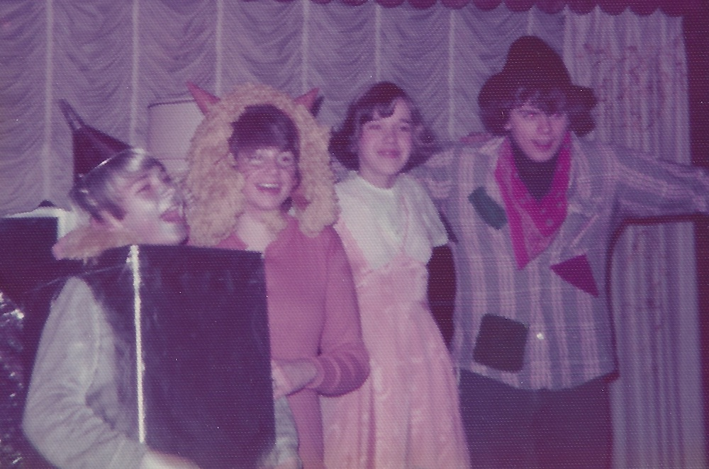 I was born to play the part. Here I am with friends at a high school costume party in 1976 -- we're dressed as the characters from Wizard of Oz. (photo courtesy of Laura Gale).