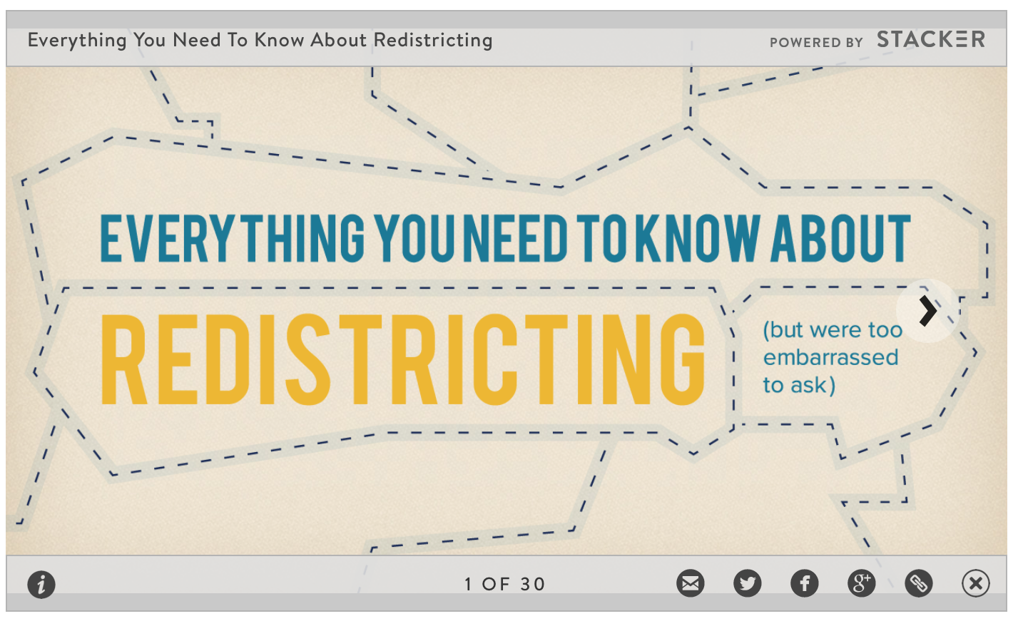 Click on image to go to a handy explanation of redistricting, and how it can go awry.