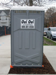 Photos of porta potty.