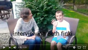 Link to video of Bev's grandson interviewing Beth.