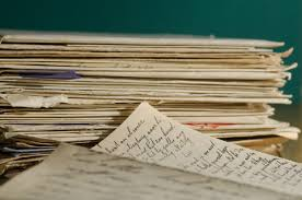 Photo of old handwritten letters.