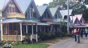 Photo of colorful cottages.