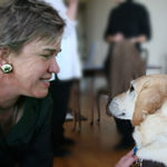 Beth Finke and Seeing Eye dog Hanni